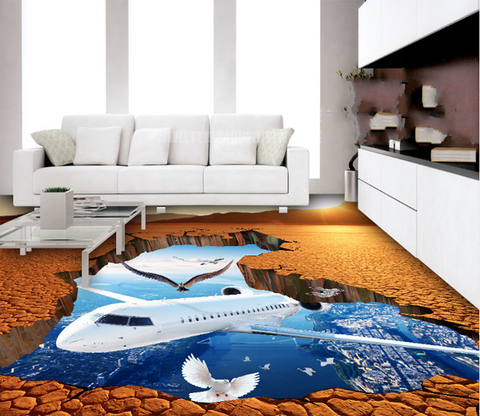 3D Aircraft 146 Floor Mural Wallpaper AJ Wallpaper 2