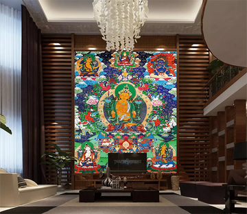 3D Buddhist Thangka 1651 Wallpaper AJ Wallpaper