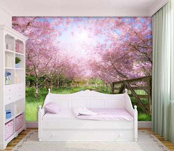 3D Peach Forest 652 Wallpaper AJ Wallpaper