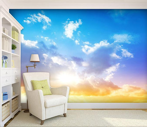 3D Blue Sky Sunshine 765 Wallpaper AJ Wallpaper