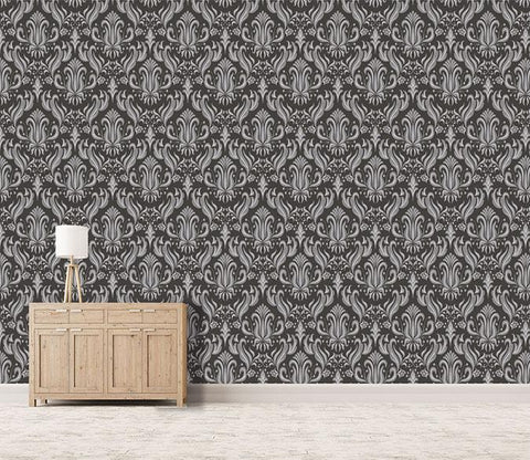3D Black Flower Pattern 290