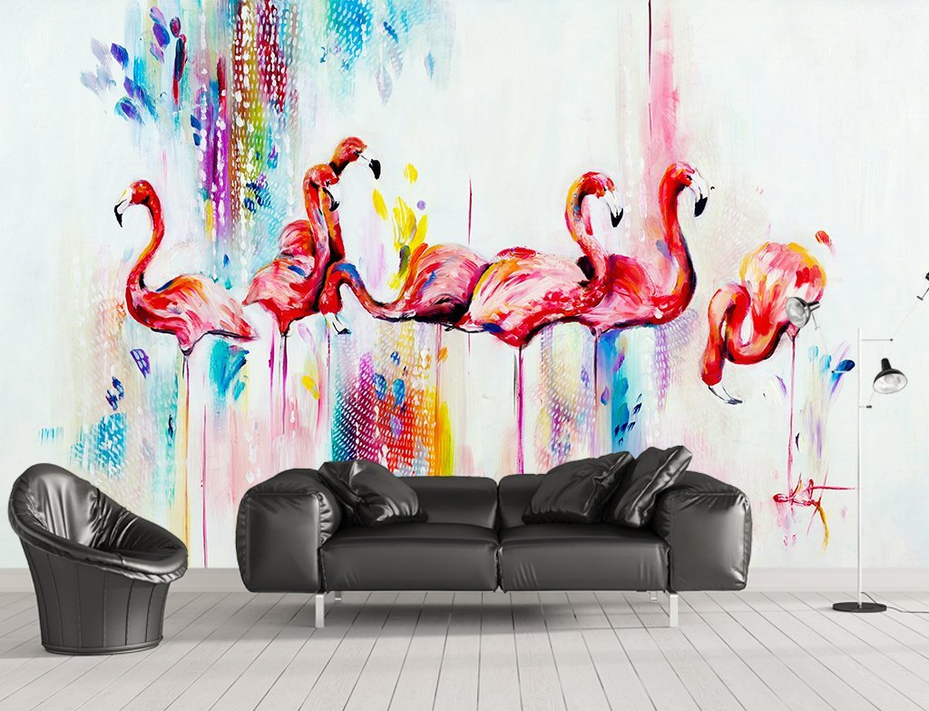 3D Flamingo 310 Wall Murals Wallpaper AJ Wallpaper 2