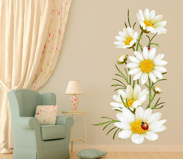 3D White Chrysanthemum 036 Wall Stickers Wallpaper AJ Wallpaper