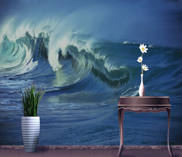 3D Oil Painting Wave 742 Wallpaper AJ Wallpaper 2