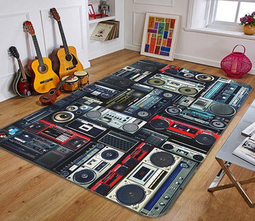 3D Audio Music 106 Non Slip Rug Mat Mat AJ Creativity Home