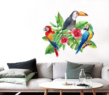 3D Toucan Parrot 128 Wall Stickers Wallpaper AJ Wallpaper