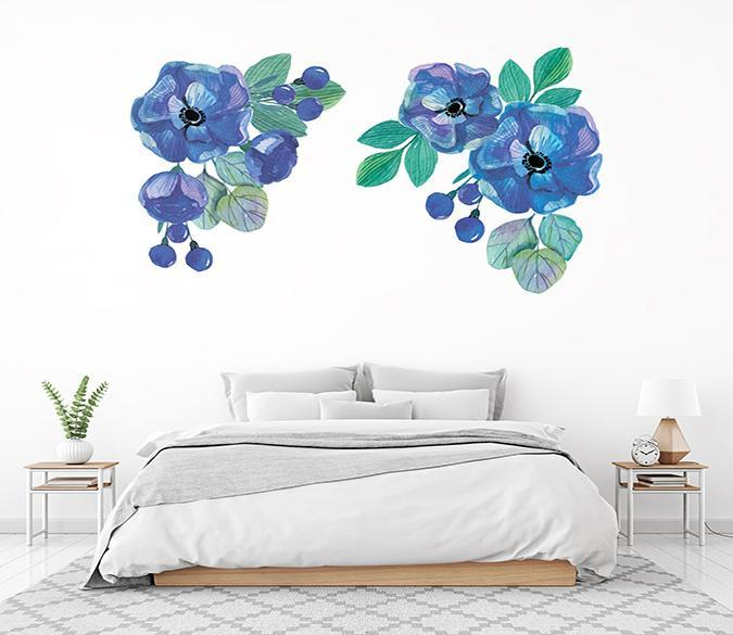 3D Blueberry Blueberry 097 Wall Stickers Wallpaper AJ Wallpaper