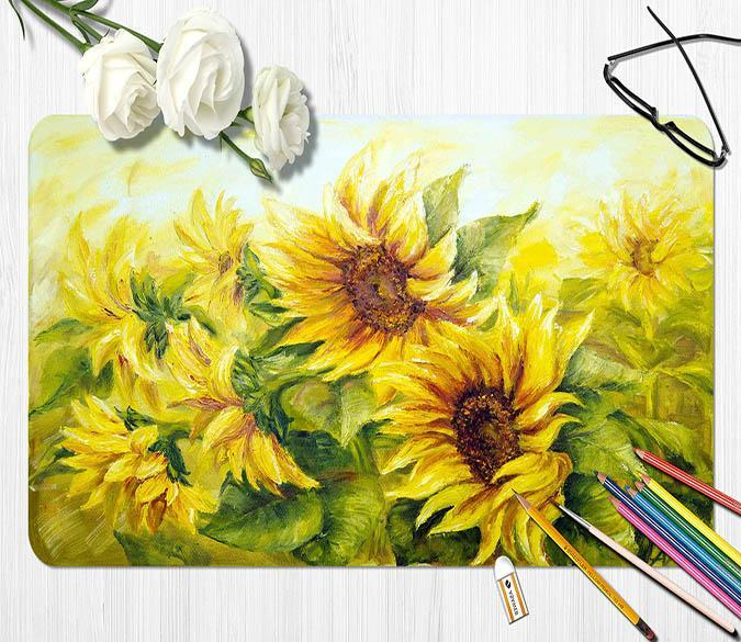 3D Painting Sunflower 096 Desk Mat Mat AJ Creativity Home