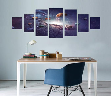 3D Star Planet 047 Unframed Print Wallpaper Wallpaper AJ Wallpaper