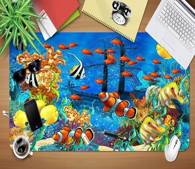 3D Underwater World 047 Desk Mat Mat AJ Creativity Home
