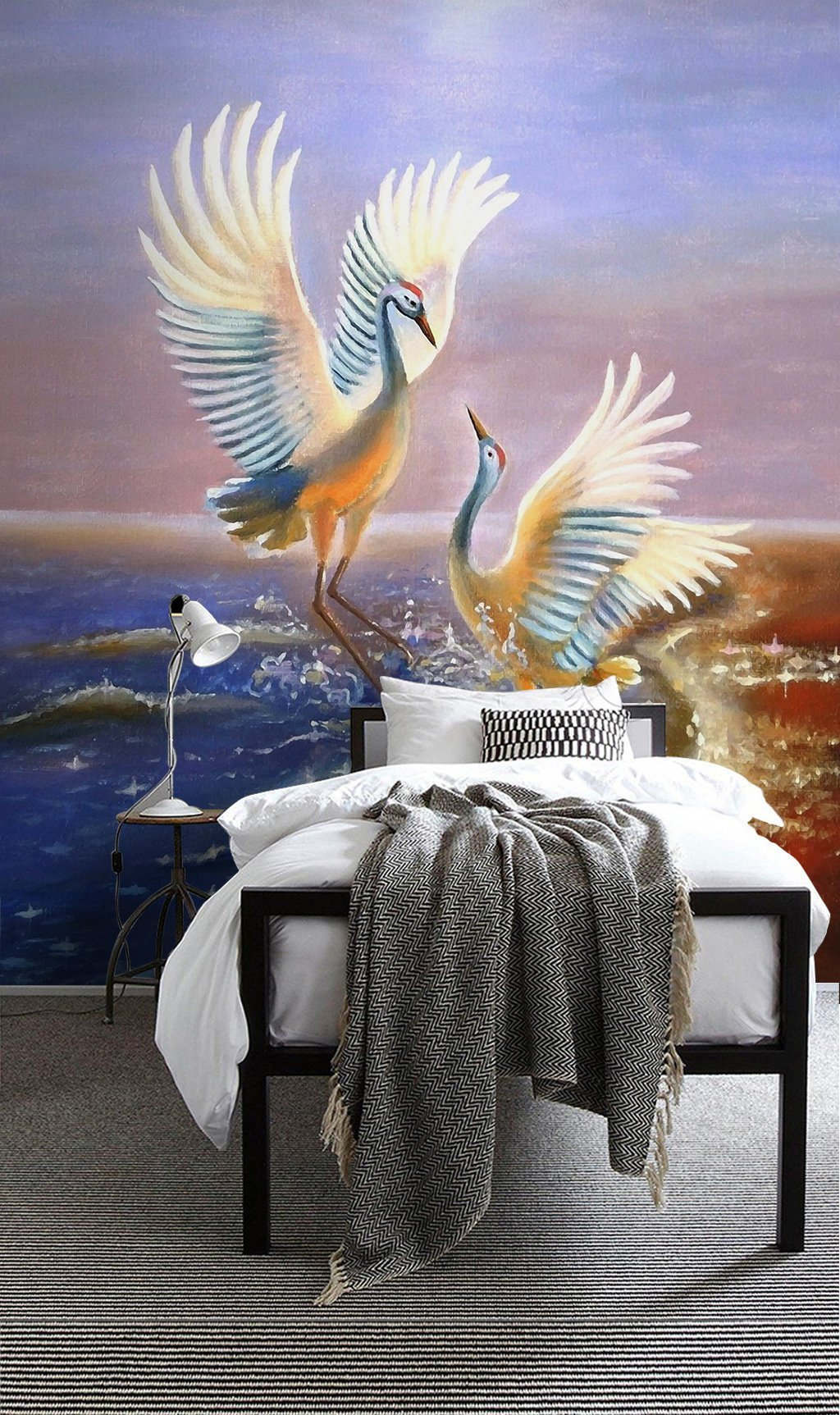 3D Red Crowned Crane 592 Wall Murals Wallpaper AJ Wallpaper 2