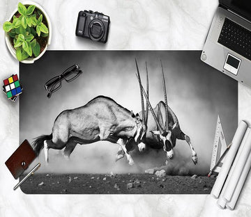 3D Antelope Battle 135 Desk Mat Mat AJ Creativity Home