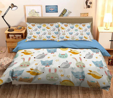 3D Animal Head 111 Bed Pillowcases Quilt Wallpaper AJ Wallpaper
