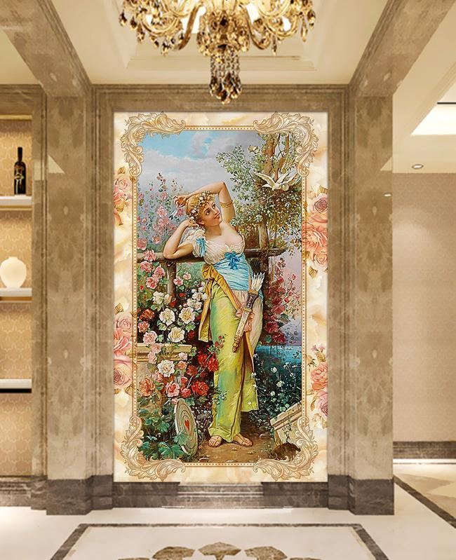 3D Ladies Painting 537 Wall Murals Wallpaper AJ Wallpaper 2