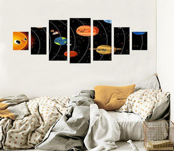 3D Cartoon Planet 042 Unframed Print Wallpaper Wallpaper AJ Wallpaper