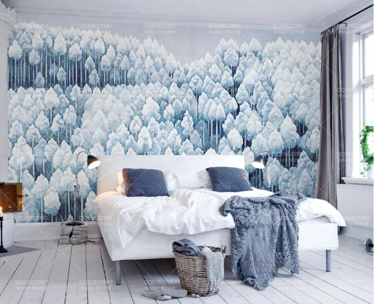 3D Forest 341 Wall Murals