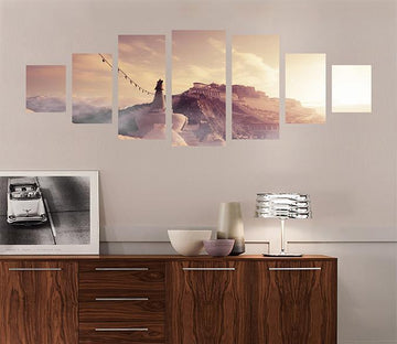3D Beautiful Sunset 032 Unframed Print Wallpaper Wallpaper AJ Wallpaper