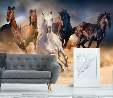 3D Running Horses 095 Wallpaper AJ Wallpaper