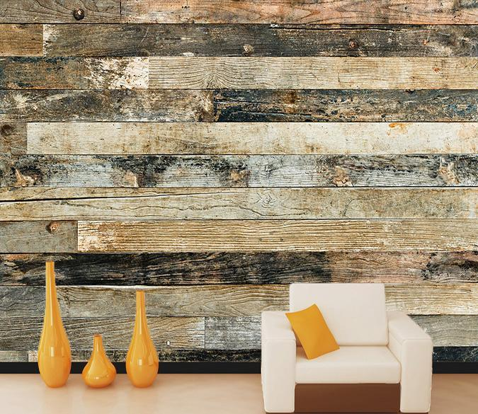 3D Wood Strips 011 Wallpaper AJ Wallpaper