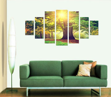 3D Sunshine Tree 019 Unframed Print Wallpaper Wallpaper AJ Wallpaper