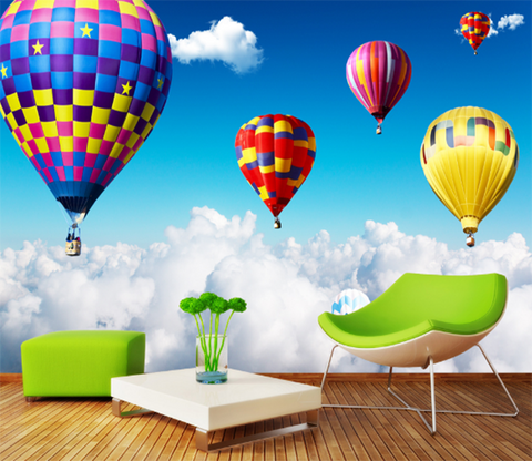 3D Hot Air Balloon 368 Wallpaper AJ Wallpaper