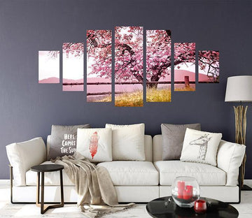 3D Beautiful Tree 022 Unframed Print Wallpaper Wallpaper AJ Wallpaper