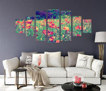 3D Flower Land 043 Unframed Print Wallpaper Wallpaper AJ Wallpaper