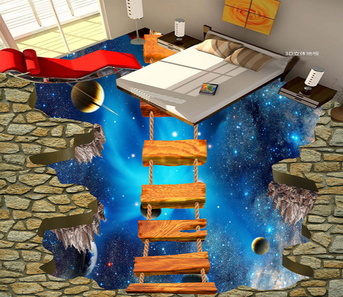 3D High-Altitude Bridger 055 Floor Mural Wallpaper AJ Wallpaper 2