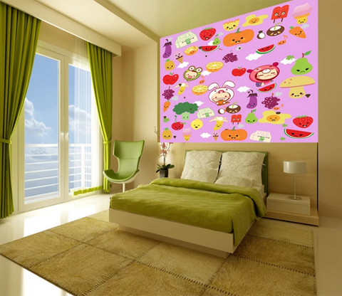 3D Cartoon Fruit And Vegetables 727