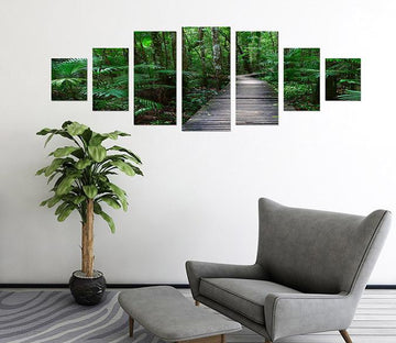 3D Wood Trail 010 Unframed Print Wallpaper Wallpaper AJ Wallpaper