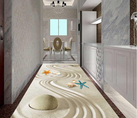 3D Beach Paintingh 041 Floor Mural Wallpaper AJ Wallpaper 2