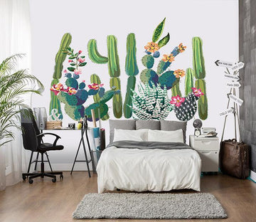 3D Cactus Flower 059 Wall Stickers Wallpaper AJ Wallpaper