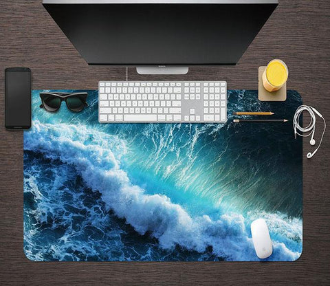 3D Sea Waves 007 Desk Mat Mat AJ Creativity Home