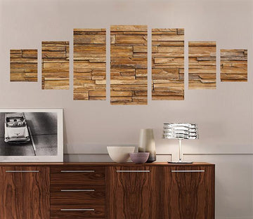 3D Uneven Wooden Block 007 Unframed Print Wallpaper Wallpaper AJ Wallpaper