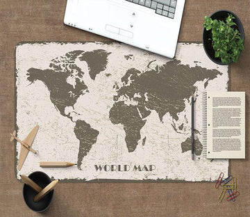 3D Frosted Map 170 Desk Mat Mat AJ Creativity Home