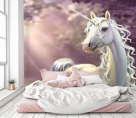 3D Beautiful Unicorn 029 Wallpaper AJ Wallpaper