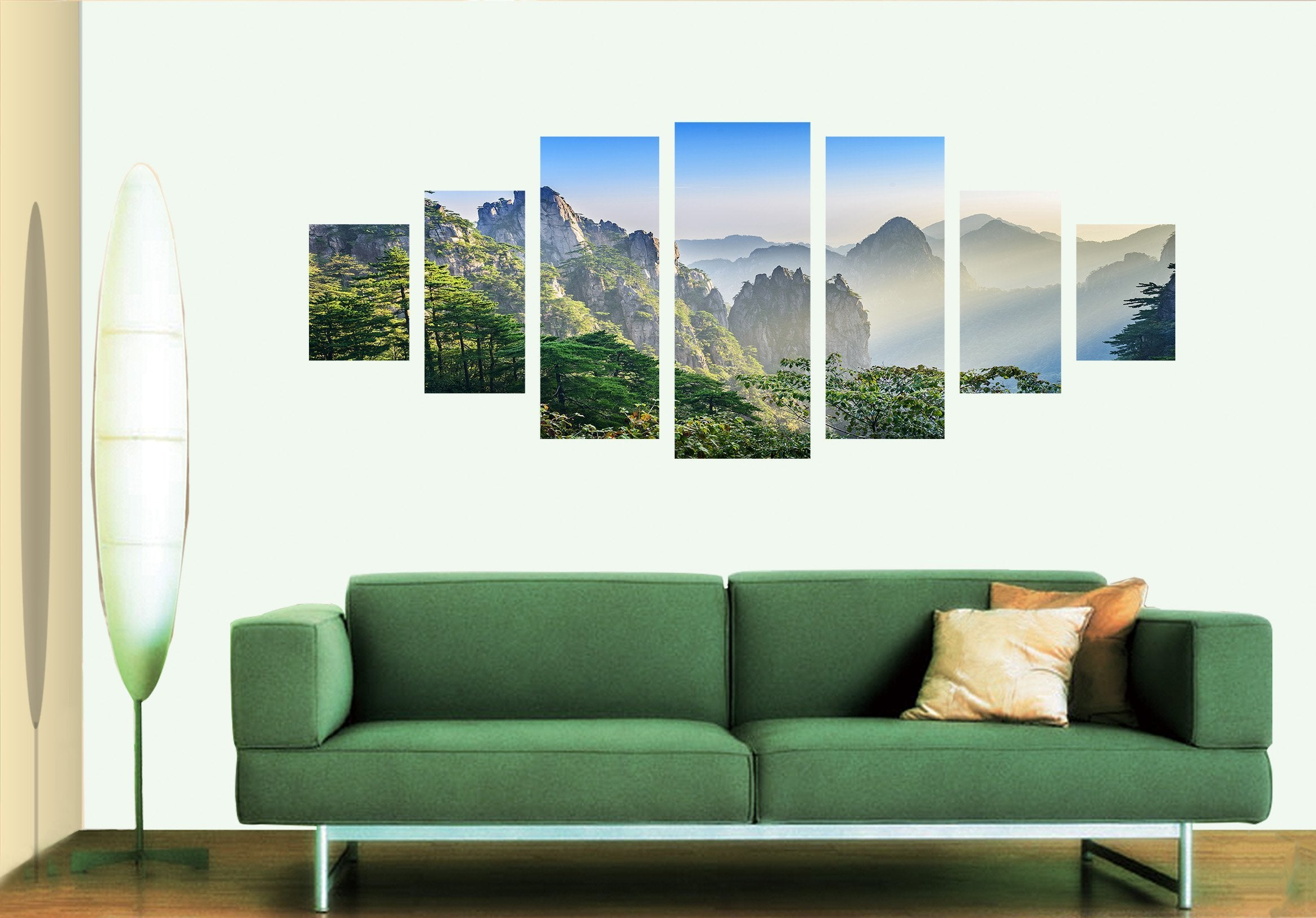 3D Steep Mountain 035 Unframed Print Wallpaper Wallpaper AJ Wallpaper