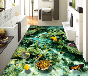 3D Seaweed 093 Floor Mural Wallpaper AJ Wallpaper 2