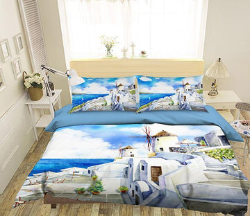 3D Aegean Sea 084 Bed Pillowcases Quilt Wallpaper AJ Wallpaper