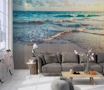 3D Beach High Tide 1198 Wallpaper AJ Wallpaper 2