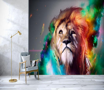 3D Lion Facing Up 129 Wallpaper AJ Wallpaper