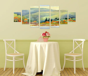 3D Landscape Painting 023 Unframed Print Wallpaper Wallpaper AJ Wallpaper