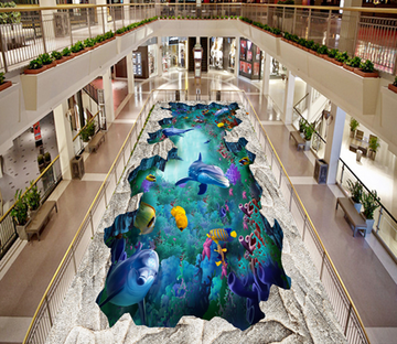 3D Undersea Creatures 073 Floor Mural Wallpaper AJ Wallpaper 2