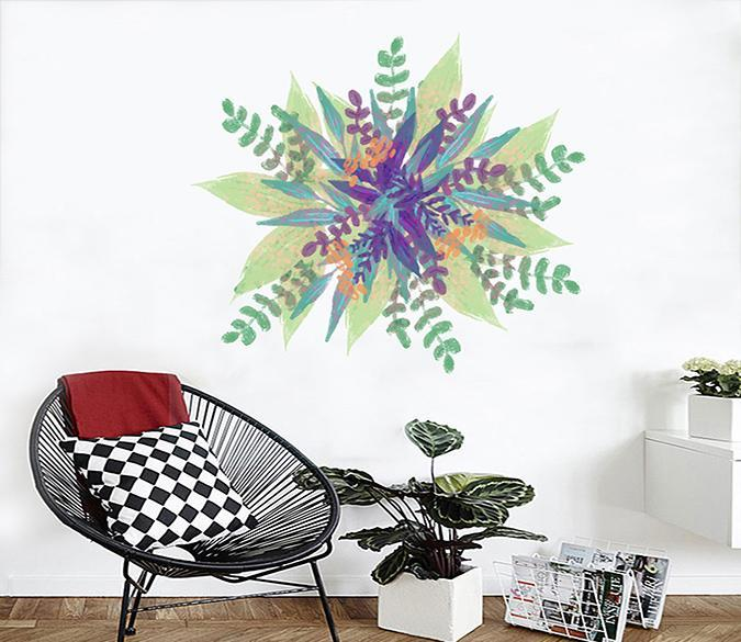 3D Graffiti Leaves 138 Wall Stickers Wallpaper AJ Wallpaper