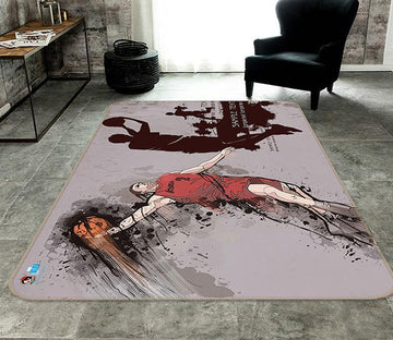 3D Basketball Player 457 Non Slip Rug Mat Mat AJ Creativity Home