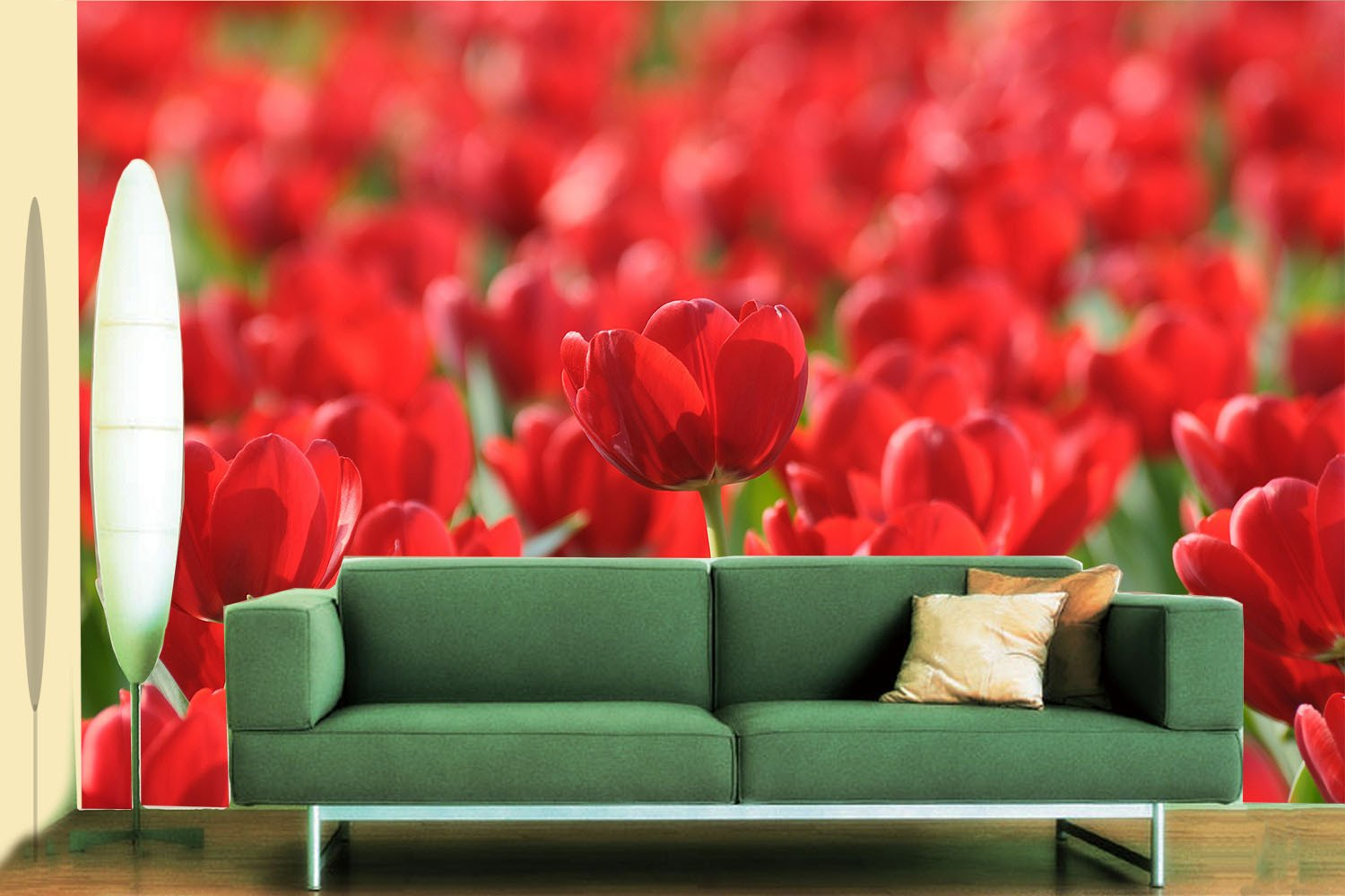Red Tulips Wallpaper AJ Wallpaper