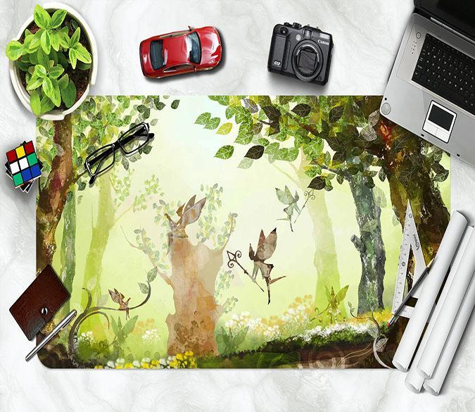 3D Cartoon Woods 050 Desk Mat Mat AJ Creativity Home