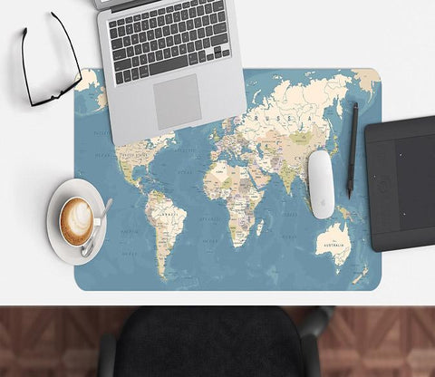 3D English Map 106 Desk Mat Mat AJ Creativity Home