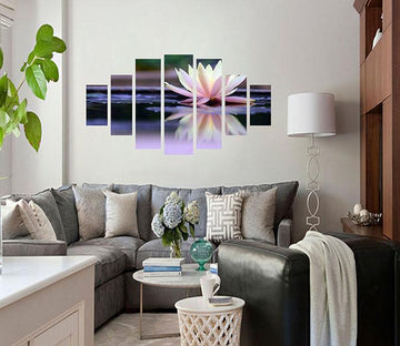 3D Beautiful Lotus 015 Unframed Print Wallpaper Wallpaper AJ Wallpaper