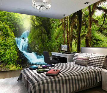 3D River Forest 393 Wallpaper AJ Wallpaper